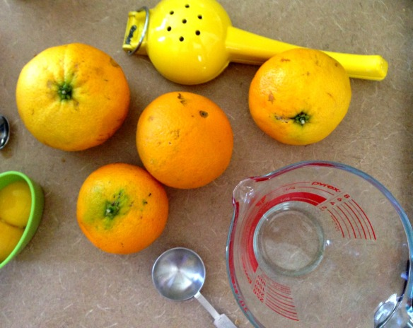 orange baking