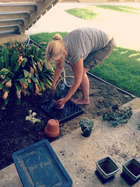 mom gardening