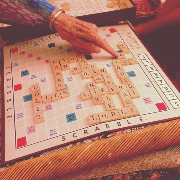 scrabble with nannie