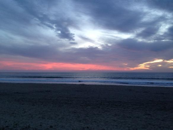 beach walk night